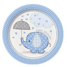 Confezione 8 Piatti Carta 17 cm , Baby Shower Nascita Bimbo PS 09632