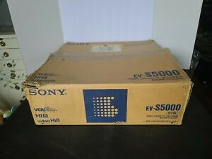 Sony VCR EV-S5000 Hi8 Video8 8mm Video 8 Player Recorder w/ Original Box WORKS!