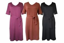 Viscose Regular Size Dresses for Women with Belt