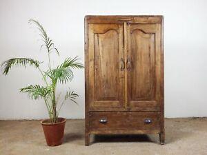 Vintage Rustic Teak Wood Cupboard MILL-1016