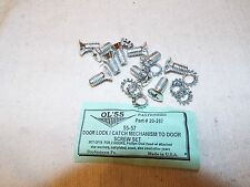 55 56 57 1955 1956 1957 Chevy Door Lock Catch Mechanism Cad Screw Set of 10, USA