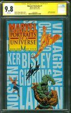 Marvel Portraits 1 CGC SS 9.8 Stan Lee Signed Incredible Hulk vs Thing FF Bisley