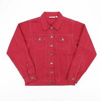 Vintage WHITE MOUNTAIN TRADERS Red Fitted Denim Jacket Womens Size Medium
