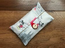 HANDMADE PACKET TISSUE HOLDER MADE WITH CATH KIDSTON MICKEY IN LONDON FABRIC