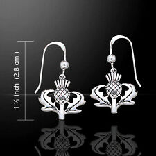 Scottish Thistle .925 Sterling Silver Earrings by Peter Stone