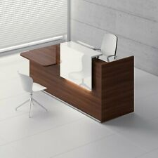 """Tera 89"""" Reception Desk with Lighting Panel & Counter Top"""