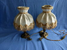 paire de lampes de chevet,pieds en bronze