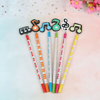 6Pcs/lot creative pencil musical writing wooden pencil stationery for stude QA