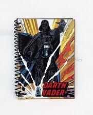 Darth Vader Spiral Notebook Folder Back To School Wide Rule Star Wars 5 x 7 New!