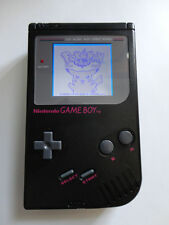 NINTENDO original game boy black DMG-01 custom backlight mod, white, red, green