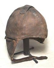 New listing 1930s-40s Weimanns Lavala Denmark Leather Flying Helmet - Complete All Original