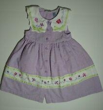 B.T. Kids Purple seersucker dress with bees and butterflies size 4