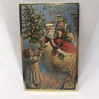 Vintage Postcard Santa Claus A Merry Christmas 1980 Holiday