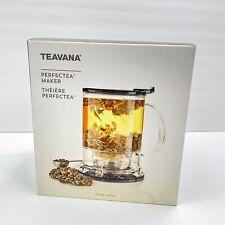 Teavana Perfectea Maker 16 fl oz Black New Open Box -NEVER USED