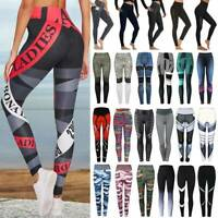 Women Yoga Pants Compression Leggings High Waist Workout Fitness GYM Trousers A3