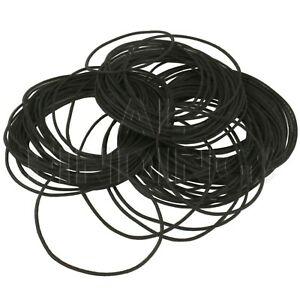 100 Round Watch Gaskets 0 Rings seal rubber washers watches 32mm-50mm assorted