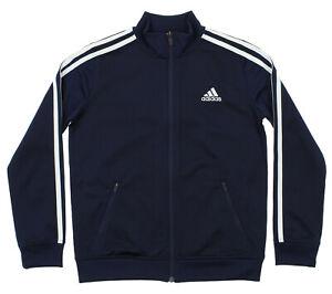 Adidas Youth Separates Training Track Jacket, Colligiante Navy/White