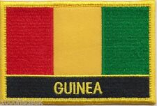 Guinea Flag Embroidered Patch Badge - Sew or Iron on