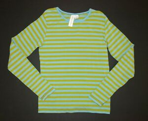 Matilda Jane Paint by numbers Mellow striped green teal blue top shirt tee 12/10