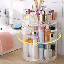 Cosmetic Makeup Organizer Storage Box Shelf 360 Rotating Display Holder Acrylic