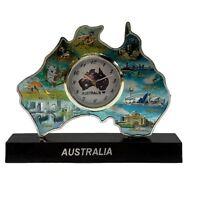 Australian Landmark Map Clock Australia Souvenir Table Clock Gift Office Decor