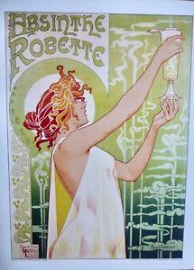 Absinthe Rolette Classic 1896 Drinking Art Nouveau Art Poster Reproduction