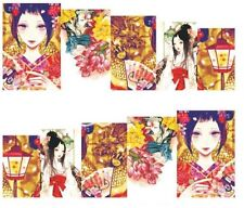 Nail Art Decals Transfers Stickers Japanese Ladies (A-184)