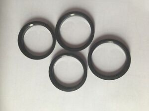 4 Polycarbon Plastics hub centric rings vehicle side 57.1mm to rims side 60mm