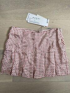 BNWT MARNI Girls Designer Pleated Skirt Size 6 Years £89