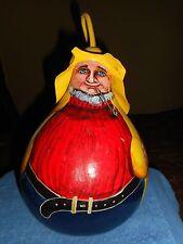 Original Gourd Art Hand Painted Sailor Fisherman Signed Sylvia Plutter Daniels