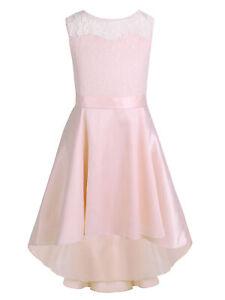 Little Big Girls Lace High-Low Hem Flower Girl Wedding Bridesmaid Party Dress