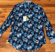 NWT Robert Graham Bassett Floral Classic Fit Long Sleeve Shirt $198 M