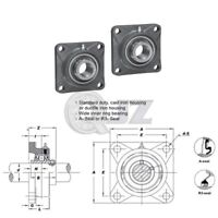 2x 2.375in Square Flange Units Cast Iron UCF212-38 Mounted Bearing UC212-38+F212