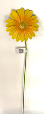 "New listing Home Garden Pool Decor Yellow Daisy Flower Yard Stake 714673 Metal 20"" Brand New"
