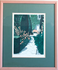 Etching Hand Colored Listed Artist Sherrie Wolf NW Artist Walk Way 17 x 20