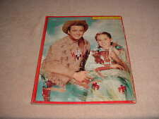 """Vintage 1956 """" Buffalo Bill Jr """" Sta-N-Place Picture Puzzles, 11"""" 15"""" # 1229"""