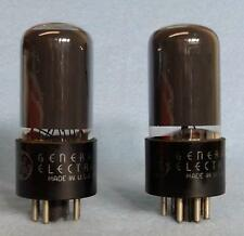2-GE by RCA 6V6GT Vacuum Tubes Amplitrex Tested Gray Glass Matched 1941 Foil