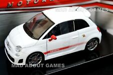 Fiat ABARTH 500 1:24 scale diecast white model metal die cast white toy car