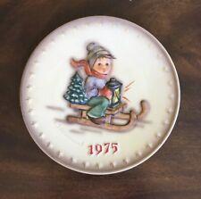 "M. J. Hummel 5th Annual 1975 Collector Plate Goebel ""Boy sledding"" With Box"