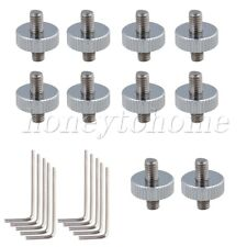 10P Silver Zinc Alloy Mandolin Tailpiece Screw Nuts Replacement NEW