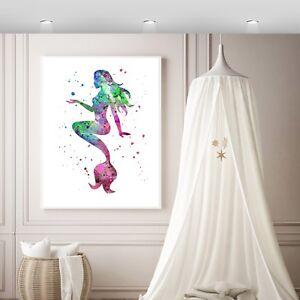 MERMAID Wall Print, VARIOUS SIZES  Wall Print,Art Print,mermaid Nursery Print,