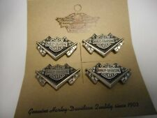 New listing Wow Lot Of Four Harley Davidson Pewter Pins Racing Flags Beautiful Fantastic