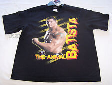 WWE Wrestling Batista Boys Black Printed Short Sleeve T Shirt Size 5 New