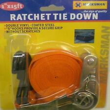 RATCHET TIE DOWN STRAP FOR ROOF RACKS TRAILERS BOATS MOTORCYCLE SECURING LOAD