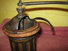 """1890s PEUGEOT FRERES G1 """"faux bois"""" Cylindrical Biedermeier style COFFEE GRINDER"""