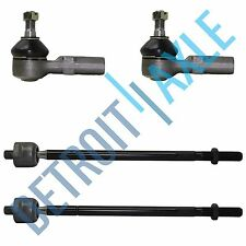 4 pc Set NEW Front Driver and Passenger Inner + Outer Tie Rod Steering Linkage