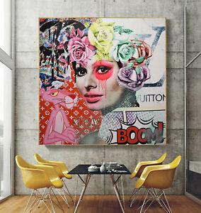 140 x 140 Original XXL Pop Art Gemälde großes Bild Leinwand Acryl Airbrush