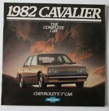 CHEVROLET CAVALIER 1982 dealer brochure - English - Canada - HS1002000318