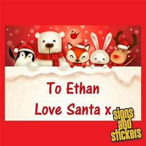 40 Personalised Christmas Stickers gift xmas parcels santa presents labels tags.