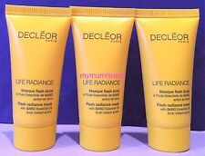 Decleor Life Radiance Flash Radiance 3 Minute Instant Action Mask 15ml x 3 NEW